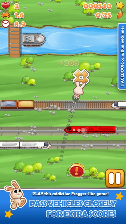Bunny Run - Cross the street avoiding cars & tracks!