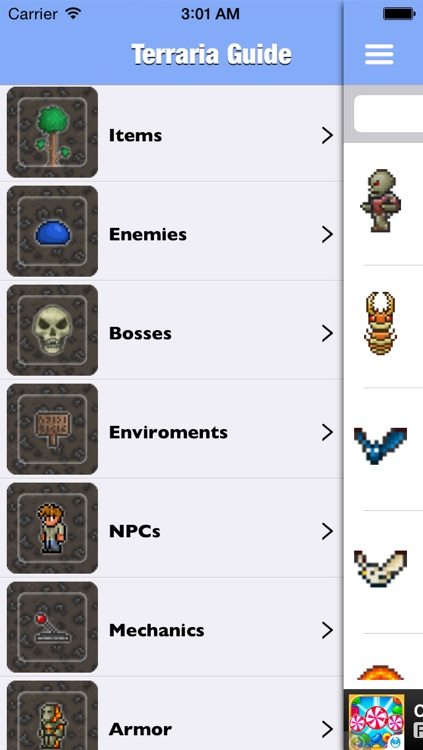 Ultimate Guide for Terraria - Mods, Maps,Walkthrough,Crafting, Recipes, Building, Items, and Survival Tips(Unoffical) screenshot-0