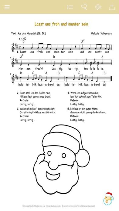 German Christmas Carols - Music, Music Sheet & Coloring Templates for Xmas screenshot two