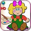 Coloring book for little girls - coloring pages with classic dolls, Russian and kimmi HD