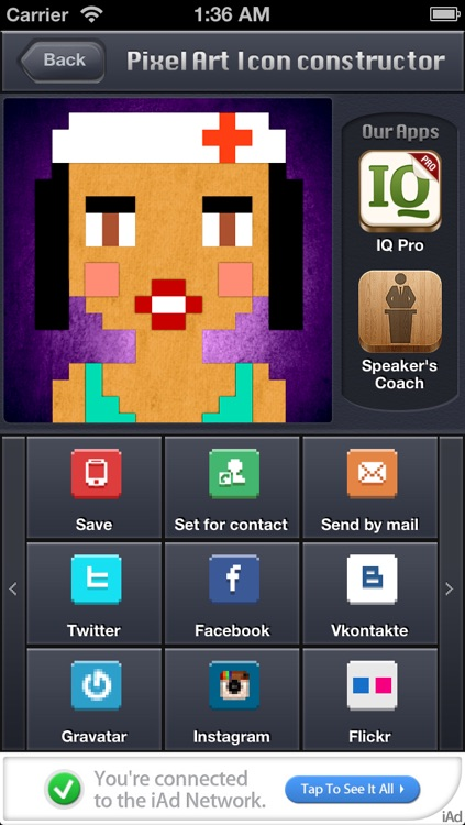 Pixatar - pixel art avatar generator with more than 5 billion variations screenshot-4