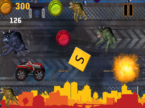 Abaiser Monster Trucks Vs Zombies: Words War Racing Game-ipad-3