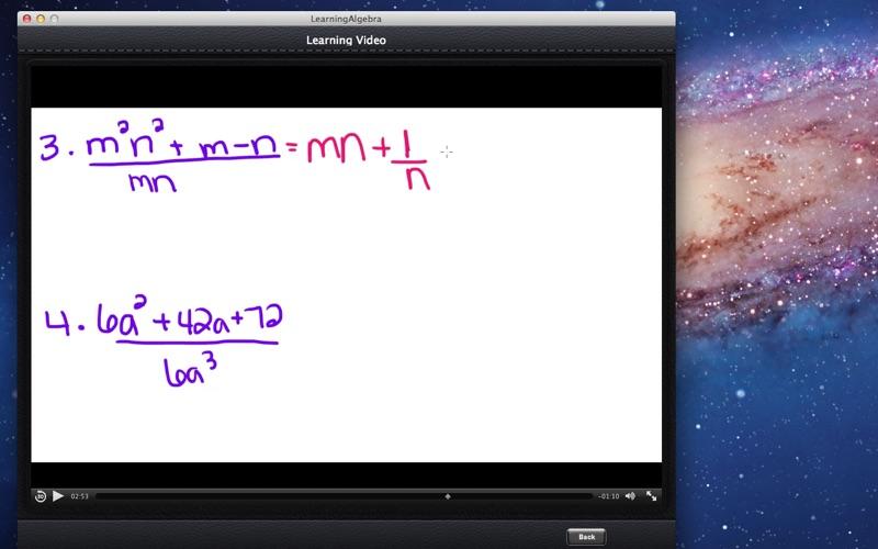 Learning Algebra screenshot 3