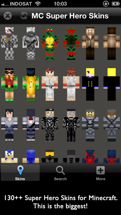 Super Hero Skins for Minecraft