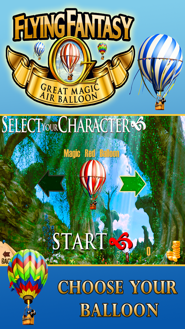 Oz Flying Fantasy-A Great Race Game in the Magical Hot Air Balloon screenshot three