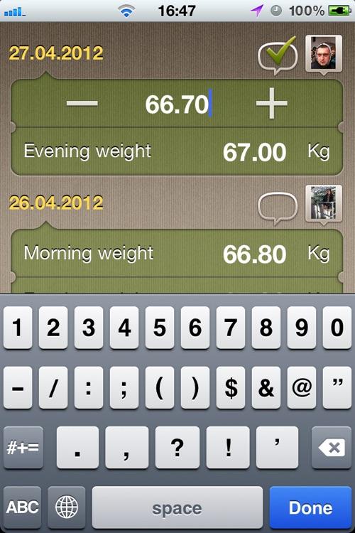 WeightMeter - Track your weight daily screenshot-3