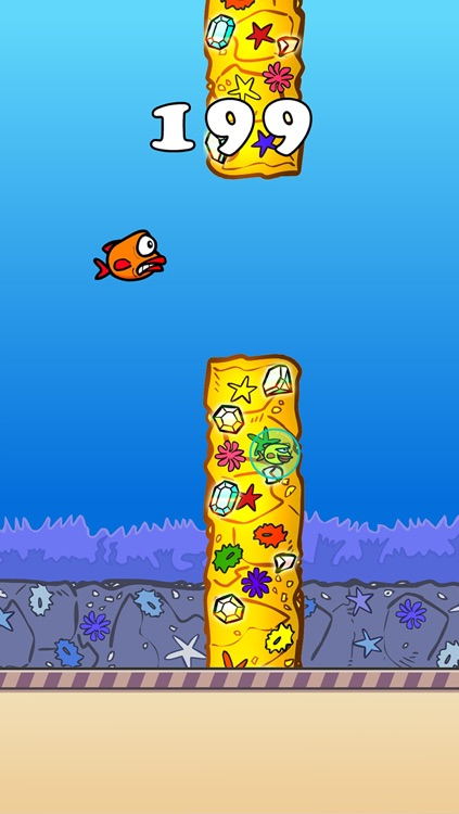 Splashy Fin The Flappy Fish (not bird) – Surf to cut the angry ocean, clash with over 2048 despicable reefs, crush the tiny hidden bubble in this survival saga! screenshot-4