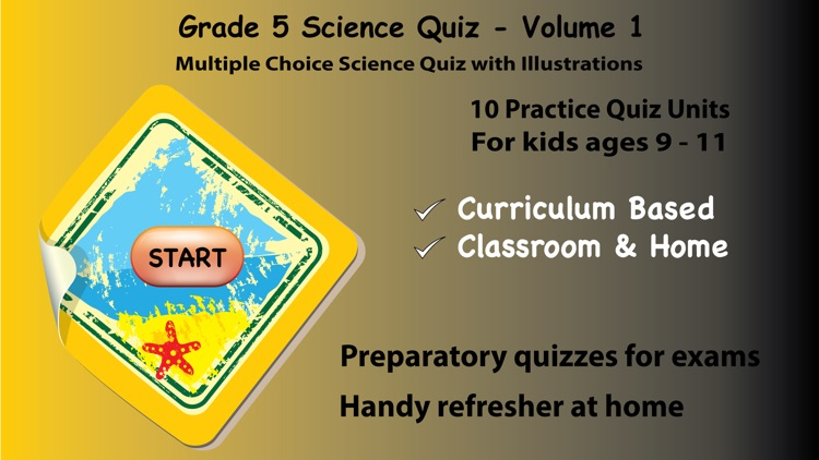 5th Grade Science Quiz # 1 for home school and classroom by Nth Fusion LLC
