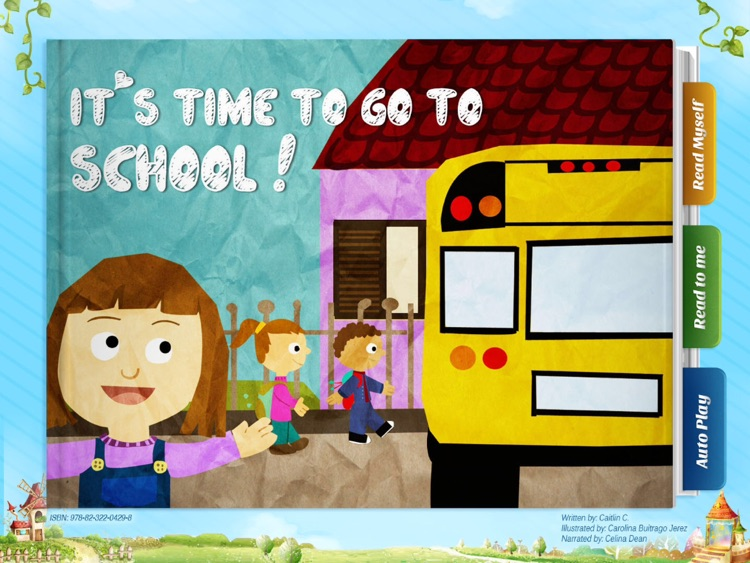 It's Time to Go to School - Have fun with Pickatale while learning how to read!