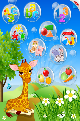 Abby Monkey® Baby Bubble Activity School: Educational Flash Cards Kids Learning Games for Toddlers and Preschool Explorers screenshot 1