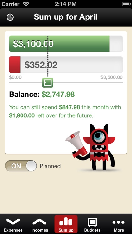 Toshl Finance - save money, budget, track expenses and bills the fun way