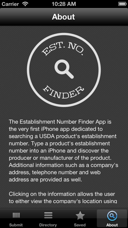 Est. No. Finder