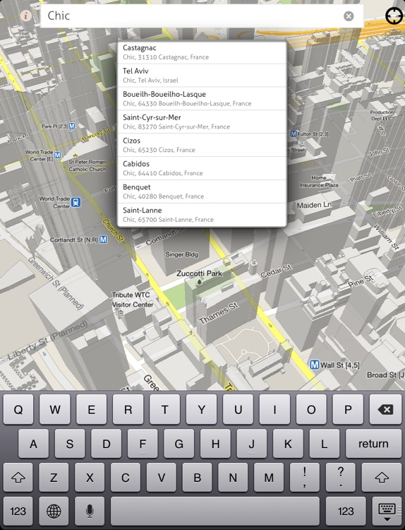 goMap! HD - Real 3-Dimensional Google Map for iPad, get ready for Easter!