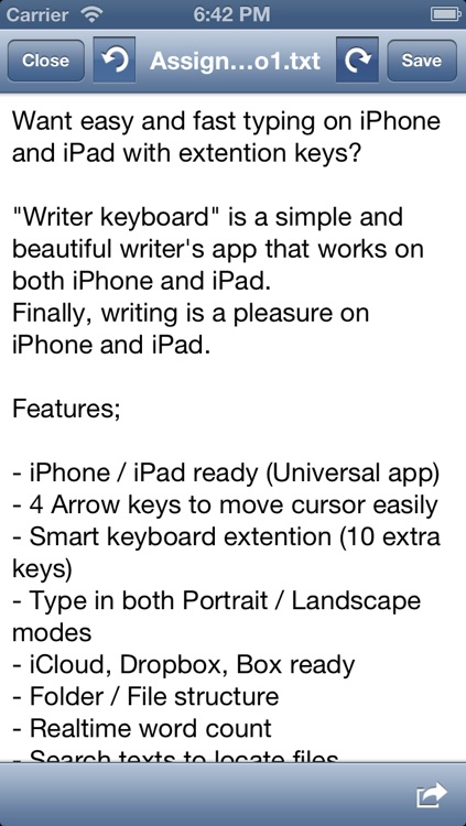 Writer app: Easy text editor for writers screenshot-4