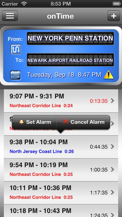 onTime : NJT FREE (NJ Transit) screenshot-2