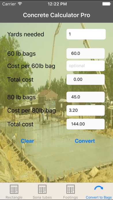 Concrete Calculator Pro review screenshots