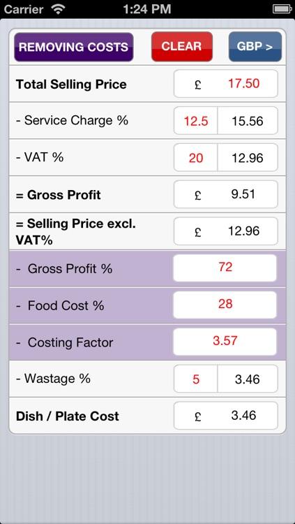 Food costing (made simple) screenshot-3