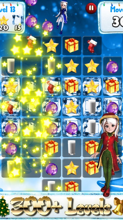 Santa Games and Puzzles - Swipe yummy candy to make it collect jewels for Christmas! screenshot-4