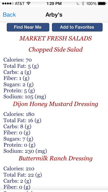 Dash Diet Helper - Fast Food Restaurants Low Sodium Items