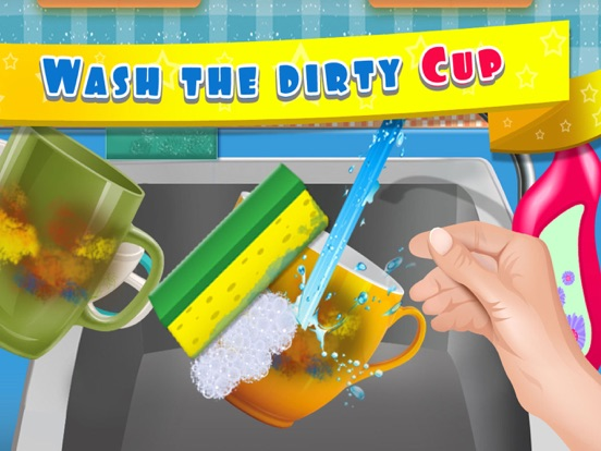 Kids Dish Washing and Cleaning Game - Free Fun Kitchen Games for Girls,Kids and Boys-ipad-2
