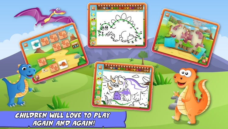 Dinosaurs Activity Center Paint & Play Free - All In One Educational Dino Learning Games for Toddlers and Kids screenshot-3