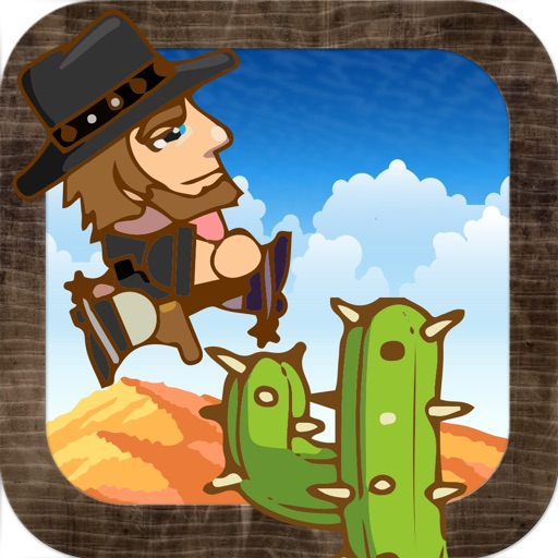 Cactus Jump Rush - The Perfect Cowboy Western Game Lite