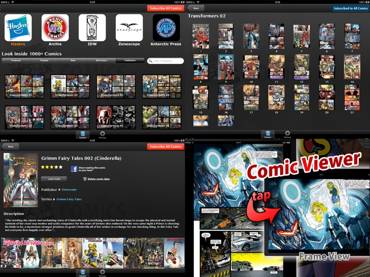Comics Unlimited : Comic and Cartoon Book Reader screenshot-0