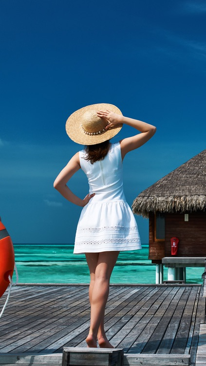 Best Beach Wallpapers: Bora Bora, Ibiza, Hawaii, Maldives, Seychelles, Greece, Thailand, Skiathos, California, Australia, Anguilla, Caribbean