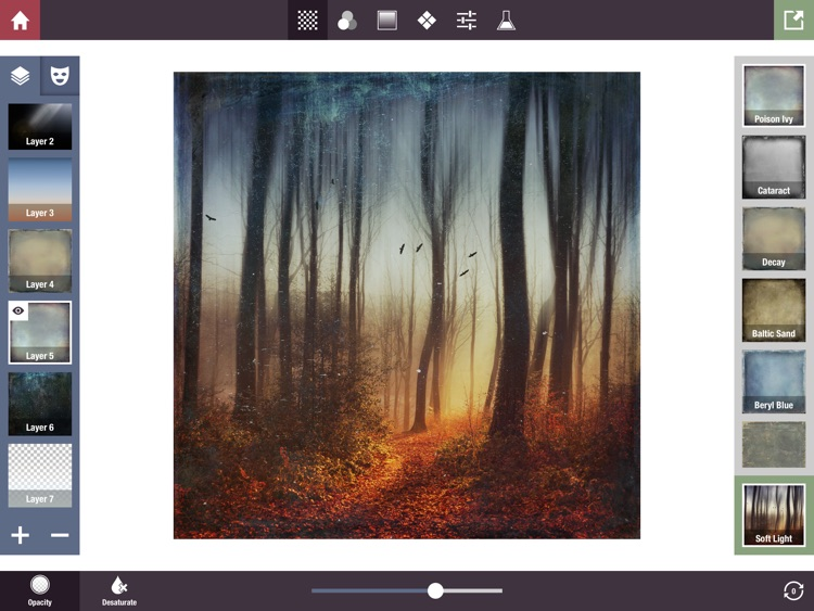 Stackables for iPad - Layered Textures, Effects, and Masks