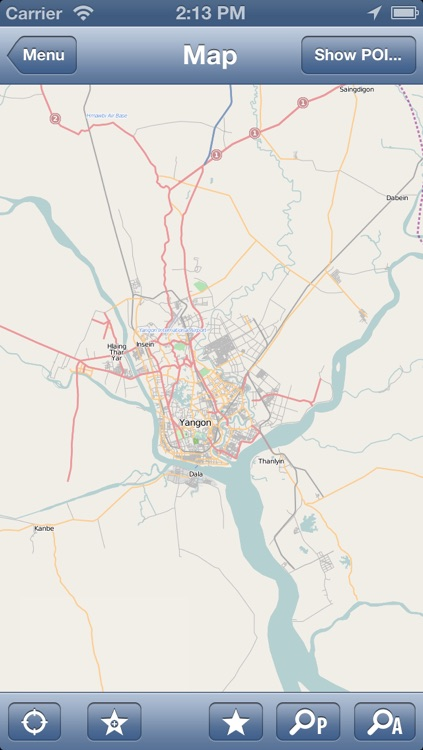 Yangon, Burma (Myanmar) Map - PLACE STARS