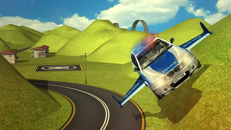 Flying Real police car driver simulator