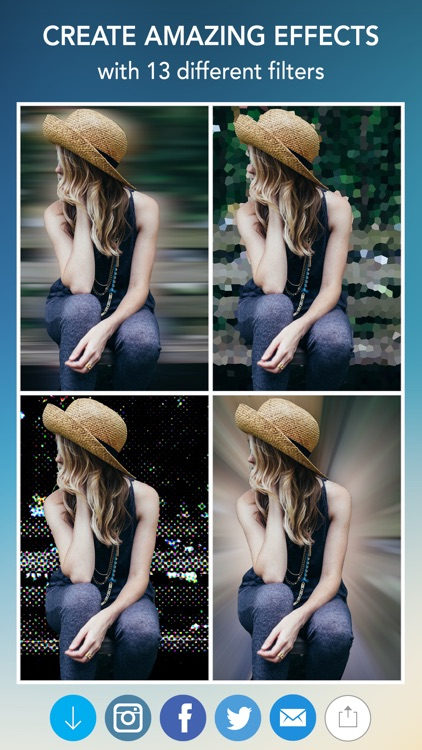 Blur Photo Effect - Touch to Edit Image Background, Hide or Censor Face with Blurred, Mosaic & Pixelated Filters screenshot-4