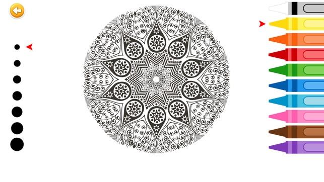 Colorear Mandala Arte Dibujo Juegos de Pintar para Adulto Estrés ...