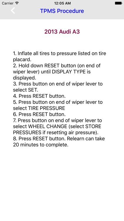 TPMS Relearn Procedures Pro screenshot-3