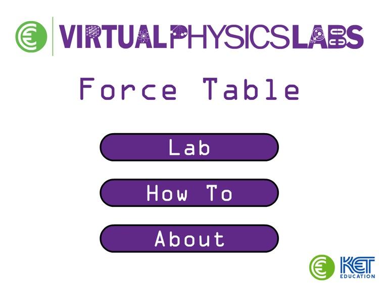 KET Virtual Physics Labs - Force Table screenshot-0
