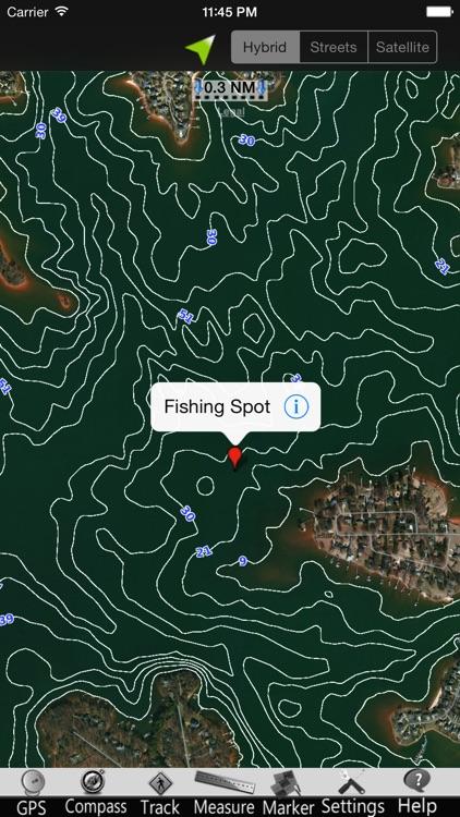 Lake Norman GPS Nautical charts screenshot-3