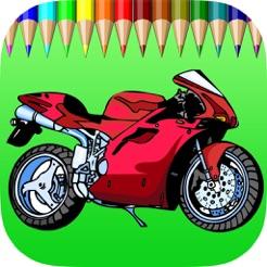 Sepeda Motor Buku Mewarnai Untuk Anak Anak Permainan Menggambar