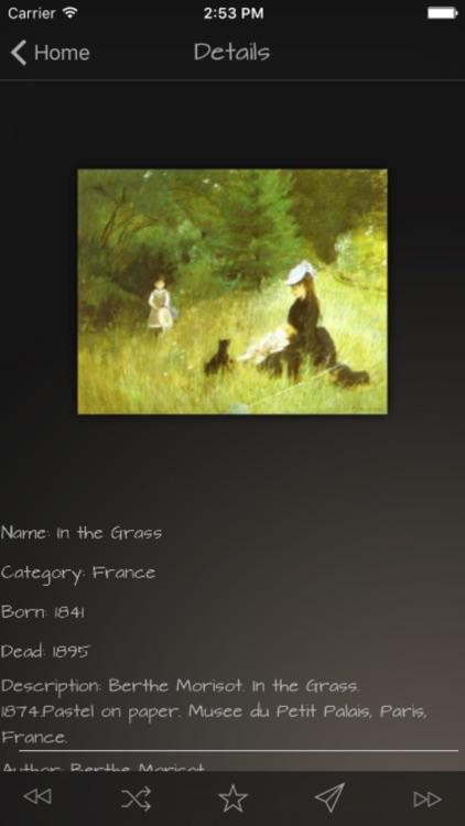 Impressionists Artworks Advisor screenshot-3