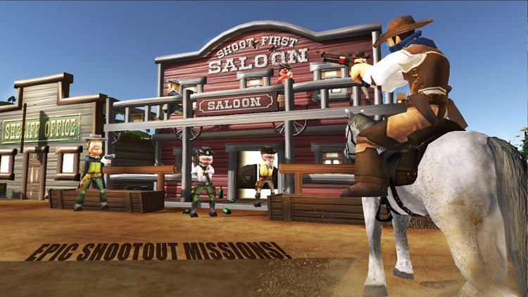Wild-West Cowboy Real Shooting Game 3D screenshot-3