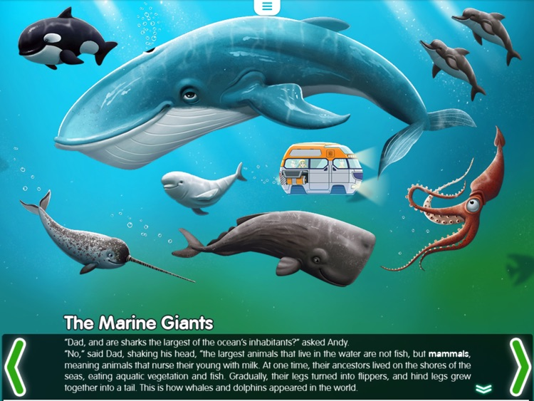 Water Planet. Interactive story for kids. Ocean and its inhabitants. screenshot-1