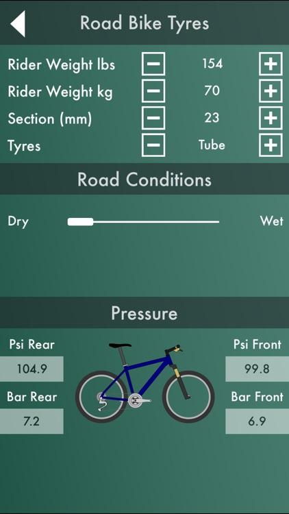 Bike Workshop  : Tire Pressure Calculator, Gear Ratio Calculator, and Speedometer screenshot-3