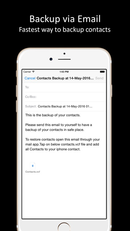 Contacts Backup - One tap to backup all contacts.