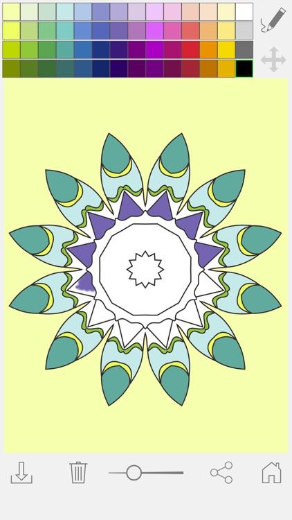 Paint & color mandalas Coloring book for adults screenshot-4