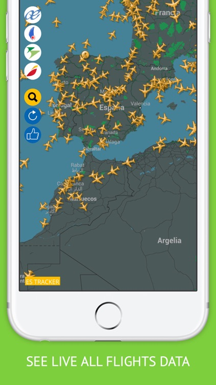 Spain Flights : Iberia, Air Europa, Easyjet Flight Tracker & Air Radar by  fikret urgan