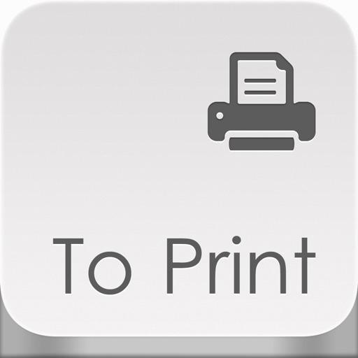 To Print - для печати документов, вэб страниц, изображений, фотографий, контактов, сообщений и карт