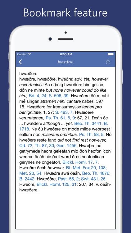 Old English Dictionary -  An Dictionary of Anglo-Saxon screenshot-3