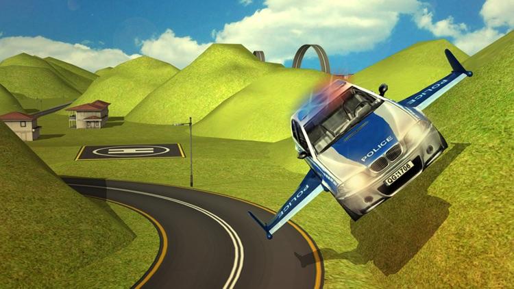 Flying Police Car Simulator 3d games screenshot-3