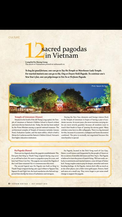 Vietnam Heritage Magazine screenshot two