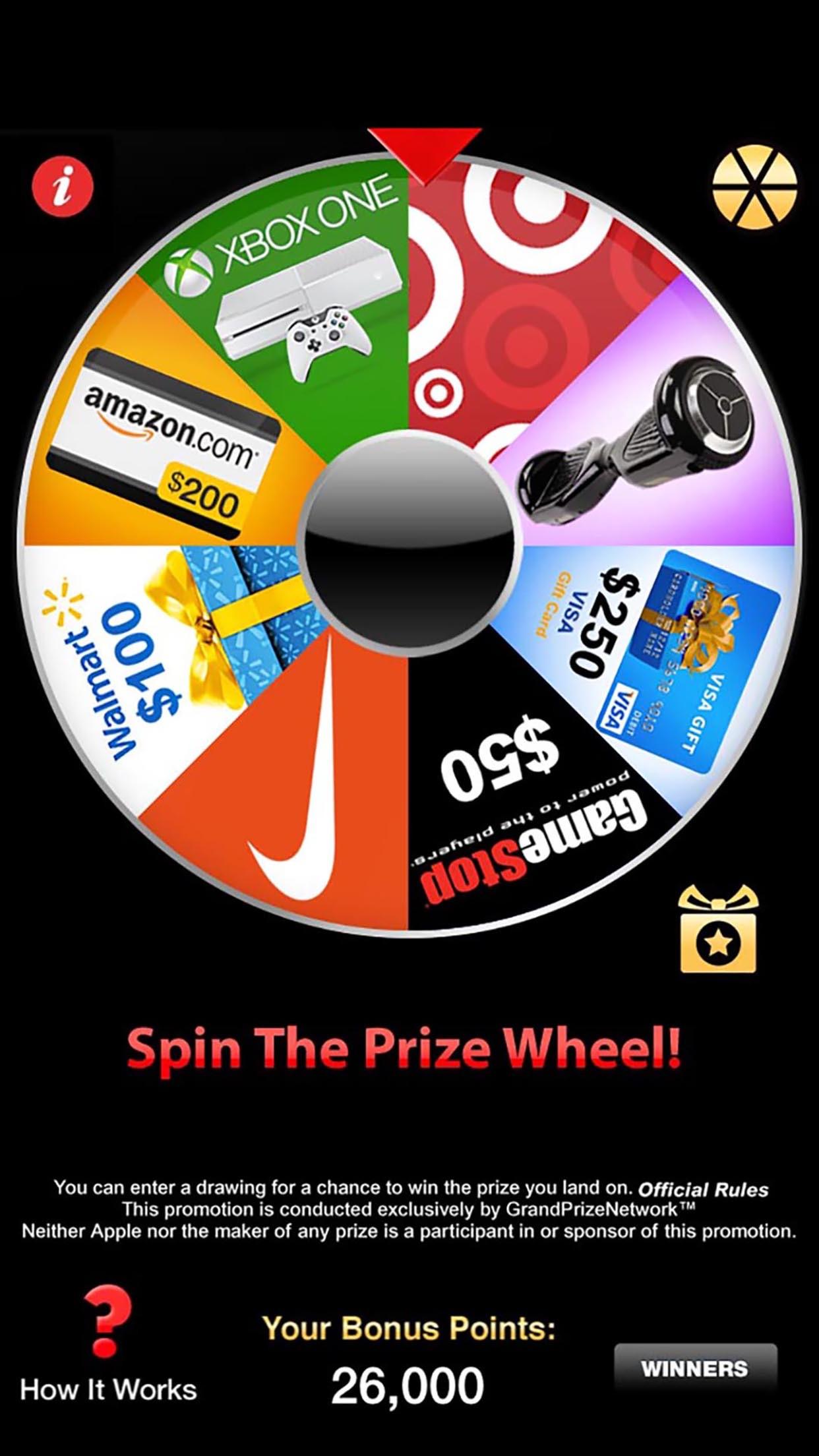 Prize Wheel® Screenshot