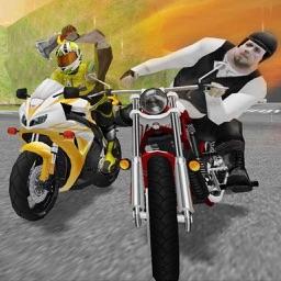 Moto Bike Road Rush : Figh-t Atta-ck Race 3d